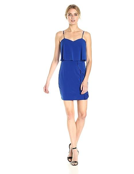 Guess Donna Vestito - Blu - 48  Amazon.it  Abbigliamento b6943563b5d