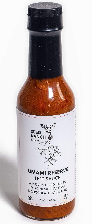 Seed Ranch - Umami RESERVE (Hot) - Chocolate Habanero Heat - Organic Gourmet Savory Hot Sauce - Award Winning