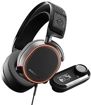 SteelSeries Arctis Pro GameDAC - Auriculares de juego, sonido de alta resolución certificado, chip ESS Sabre DAC
