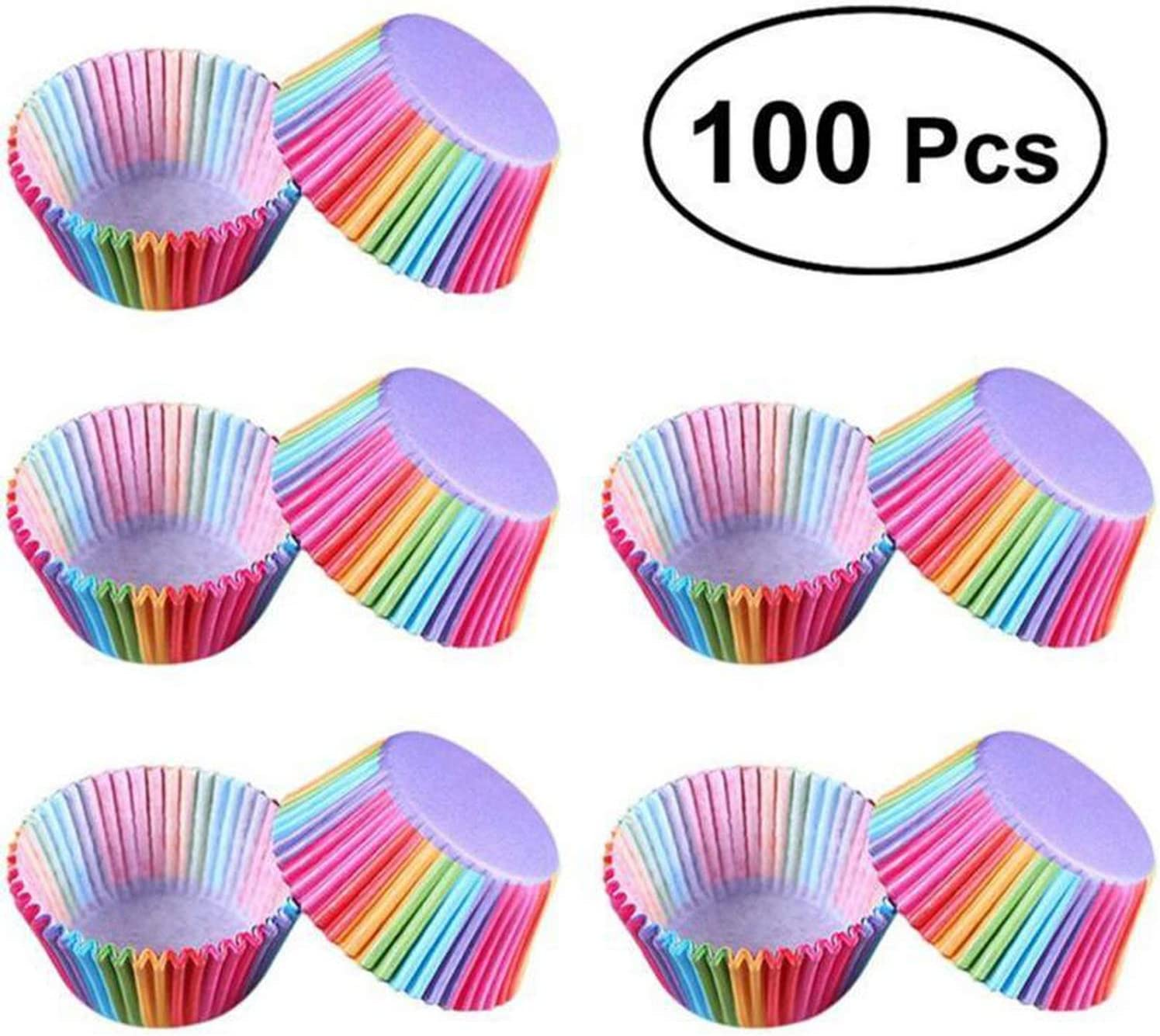 100pcs Mini Cupcake Liner Baking Cup Paper Muffin Cases Cake Cup Egg tarts Tray Cake Mould Wrapper Decorating Tools
