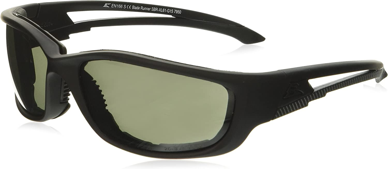 EDGE TACTICAL EYEWEAR BLADE RUNNER BLACK CLEAR VAPOR SHIELD LENS SBR611