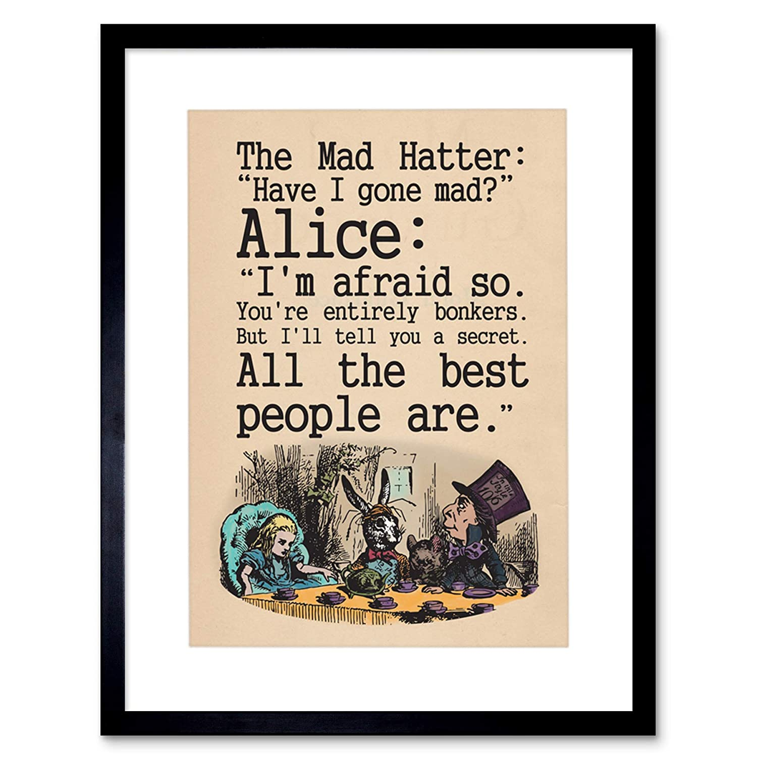 Amazon The Art Stop Quote Carroll Book Alice Wonderland Mad