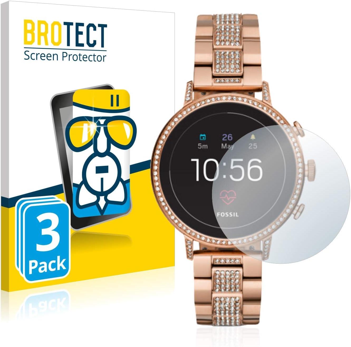 brotect Protection Ecran Verre Compatible avec Fossil Q Venture HR (4.Gen) (3 Pièces) Film Protecteur Vitre 9H Anti Rayures, AirGlass
