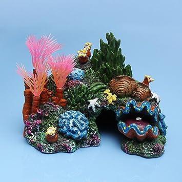 Hinmay - Figura decorativa para acuario, resina, diseño de arrecife: Amazon.es: Productos para mascotas