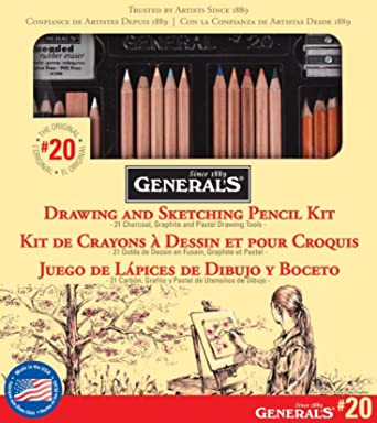 General Pencil 20GP Generals Classic Sketching and Drawing Kit
