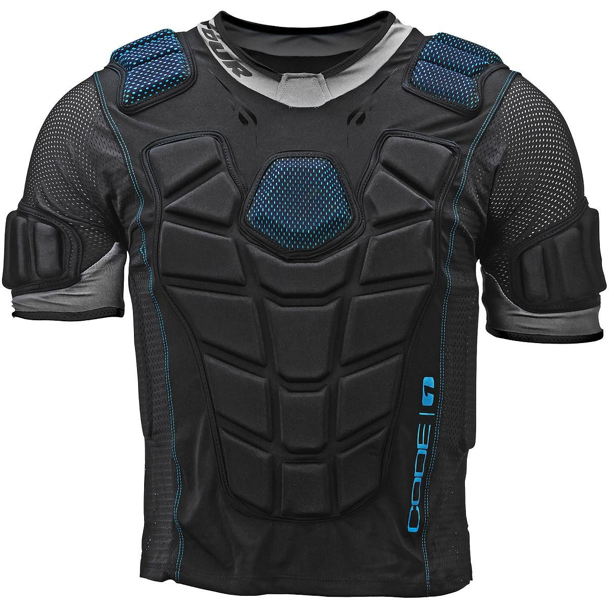 Tour Adult Code 1 Inline Hockey Upper Body Protector Black Size: Large Black