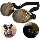 Tanbi Vintage Steampunk Goggles Glasses New Sell Cyber Punk Gothic-Copper