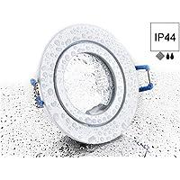 Spot IP44aluminio Foco–color blanco redondo–con clic y glasabdeckung–para