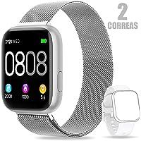 AIMIUVEI Smartwatch, Reloj Inteligente Mujer Hombre IP67 con Pulsómetro, 1.4 Inch Smartwatch Presión Arterial Monitor de…