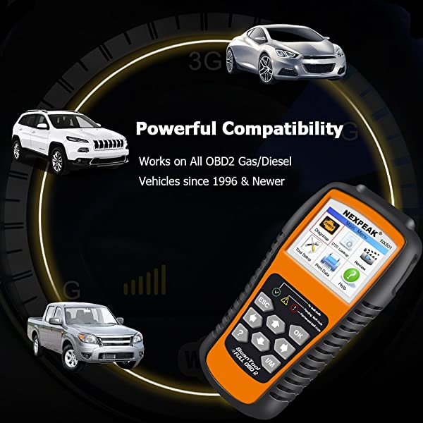 NEXPEAK NX501 is an OBD2 Code Reader that is powerful compatibility