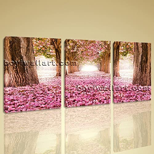 Amazon.com: Large Spring Flowers Trees Floral Contemporary On Canvas ...