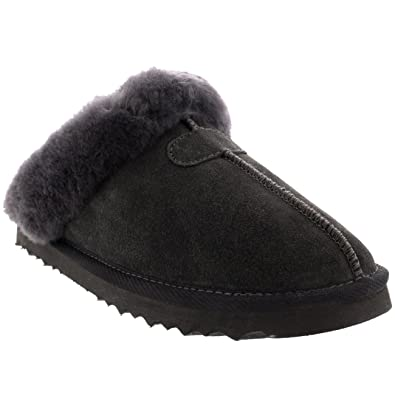 5c7ca8a2dab22 POLAR Womens Real Suede Australian Winter Warm Mules: Amazon.co.uk ...