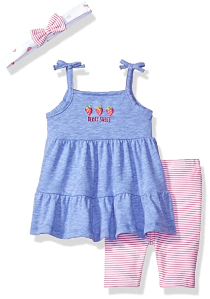 a8b85dac3963 Amazon.com  Rene Rofe Baby Baby Girls  3 Piece Dress Set with Capri ...