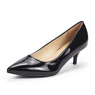 8ce03527313 DREAM PAIRS Women s Moda Black Pat Low Heel D Orsay Pointed Toe Pump Shoes  Size