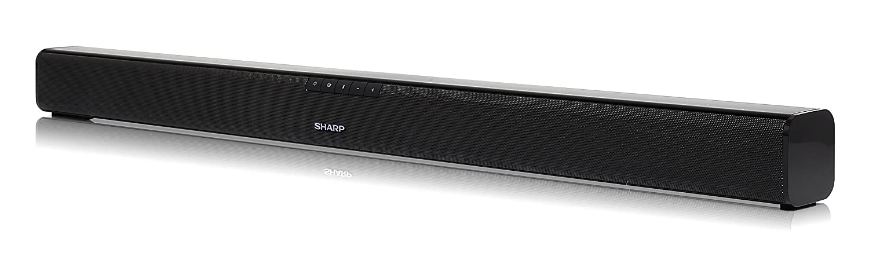 TALLA 80 cm. Sharp HT-SB110 2.0 Slim - Barra de Sonido Cine en casa (Bluetooth, HDMI, ARC/CEC, 90 W de Potencia, 80 cm) Color Negro