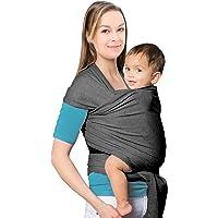 Mture Fular portabebés Elastico, Portador de Bebé Elastico Ajustable, Pañuelo de algodón;Porta bebé para Madre y Padre Unisex, Gris