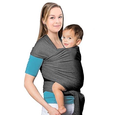 MTURE Écharpe porte-bébé en coton naturel, Écharpe de portage pour bébé  Élégant et 8934e6f5c80
