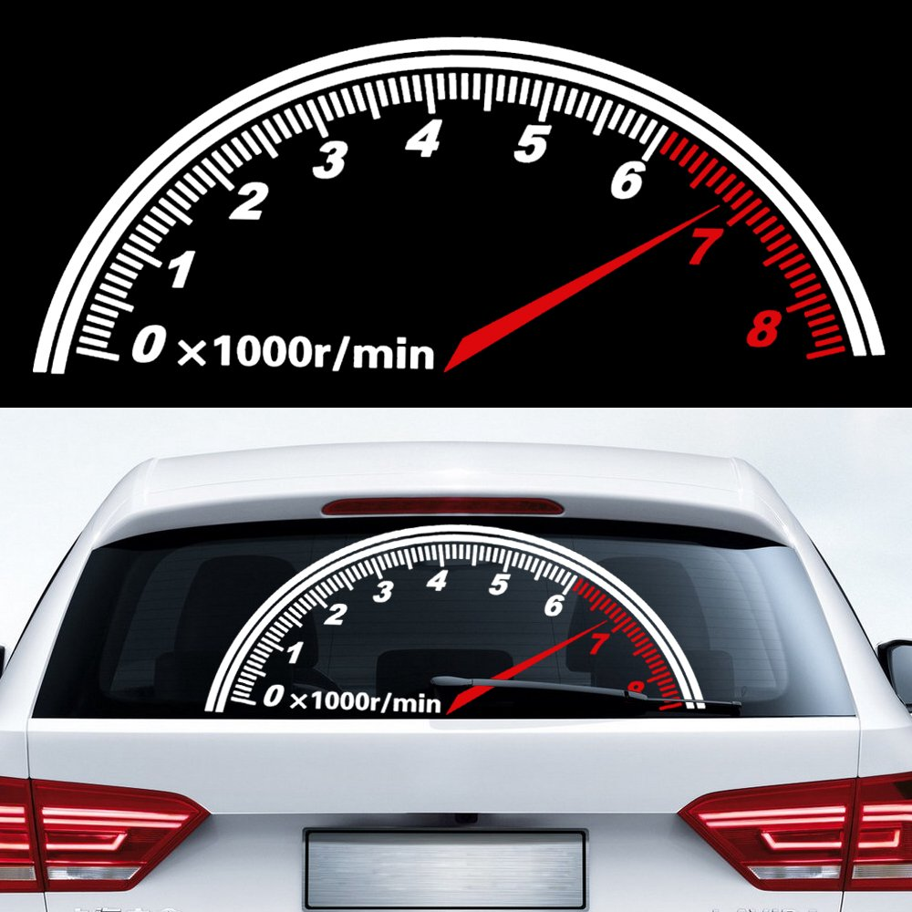 Back Window Car Sticker Speedometer