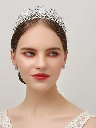 Floral Bridal CZ Crystal Rhinestone Prom Wedding Tiara V620