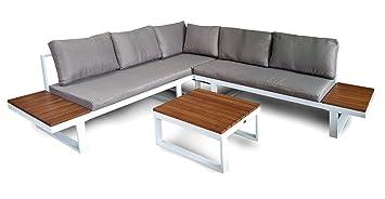Osoltus Malmö Lounge Sofa Alu Weiß Ecklounge Gartenlounge Weiß