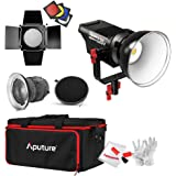 Aputure Lightstorm COB 120D 135W 6000K Daylight Balanced LED Continuous Video Light Aputure Fresnel Lens, Barn Door, Honeycomb Grid, Color Filters PERGEAR Cleaning Kit Better Lighting
