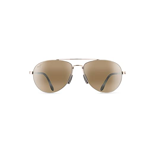 ec586b1220 Maui Jim Pilot H210-16 | Sunglasses, Gold Aviator, with Patented  PolarizedPlus2 Lens