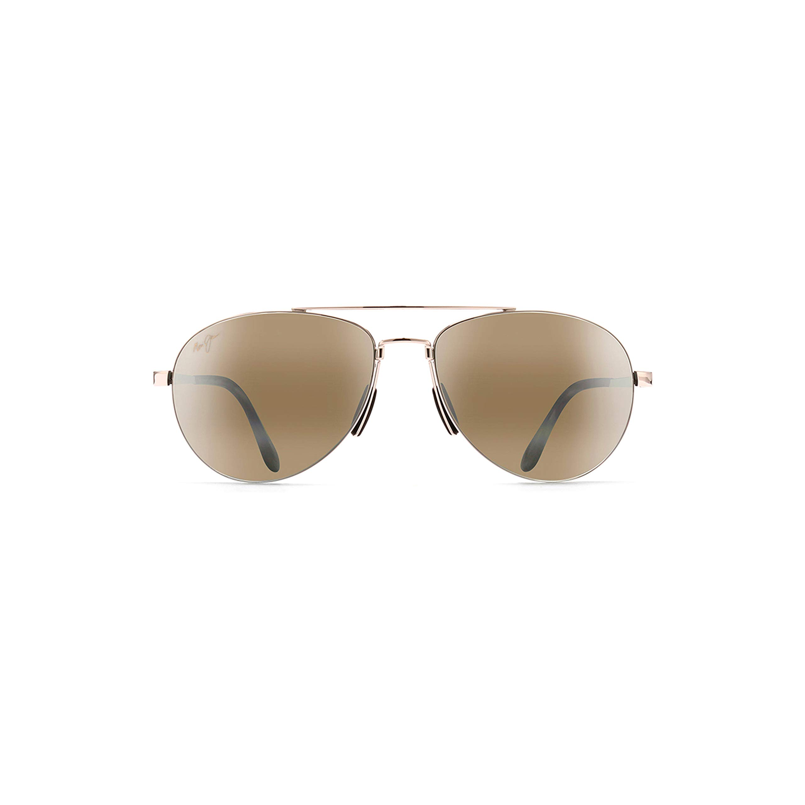 Maui Jim Pilot H210-16 | Sunglasses, Gold Aviator, with with Patented PolarizedPlus2 Lens Technology