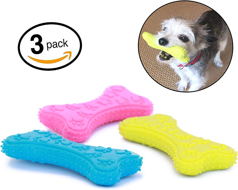 Mahonés Lifestyle - Pack de 3 Juguetes para Perros (Huesos de Goma ...