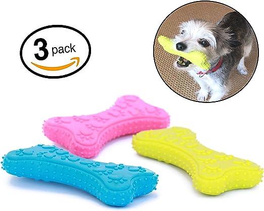 Mahonés Lifestyle - Pack de 3 Juguetes para Perros (Huesos de Goma) - Ideal para morder y masticar [Recomendado a perros pequeños & cachorros]: Amazon.es: Productos para mascotas