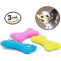 Mahonés Lifestyle - Pack de 3 Juguetes para Perros - 3 Huesos de Goma, Ideal para morder y Masticar - Nuestra Mascota jugará con 3 Colores Diferentes