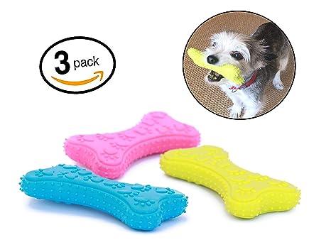Mahonés Lifestyle - Pack de 3 Juguetes para Perros (Huesos ...