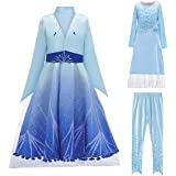 HUA ANGEL Princess Costume Dress for Girls Snow Queen Suits (3Pcs) for Halloween Cosplay Party