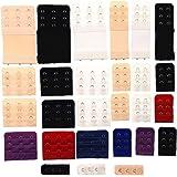 JZK Set 27 assortiti colori estensori reggiseno adattatore estensione reggiseno 2 ganci 3 ganci 1 gancio nero bianco beige rosso blu viola