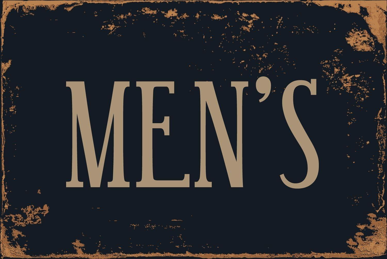 StickerPirate Mens Room Restroom 8 x 12 Vintage Aluminum Retro Metal Sign VS493