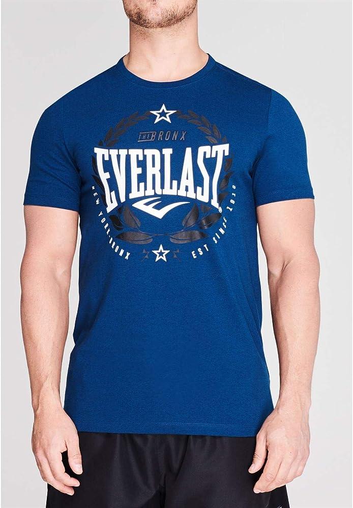 Everlast Hombre Laurel Camiseta Manga Corta Azul S: Amazon.es ...