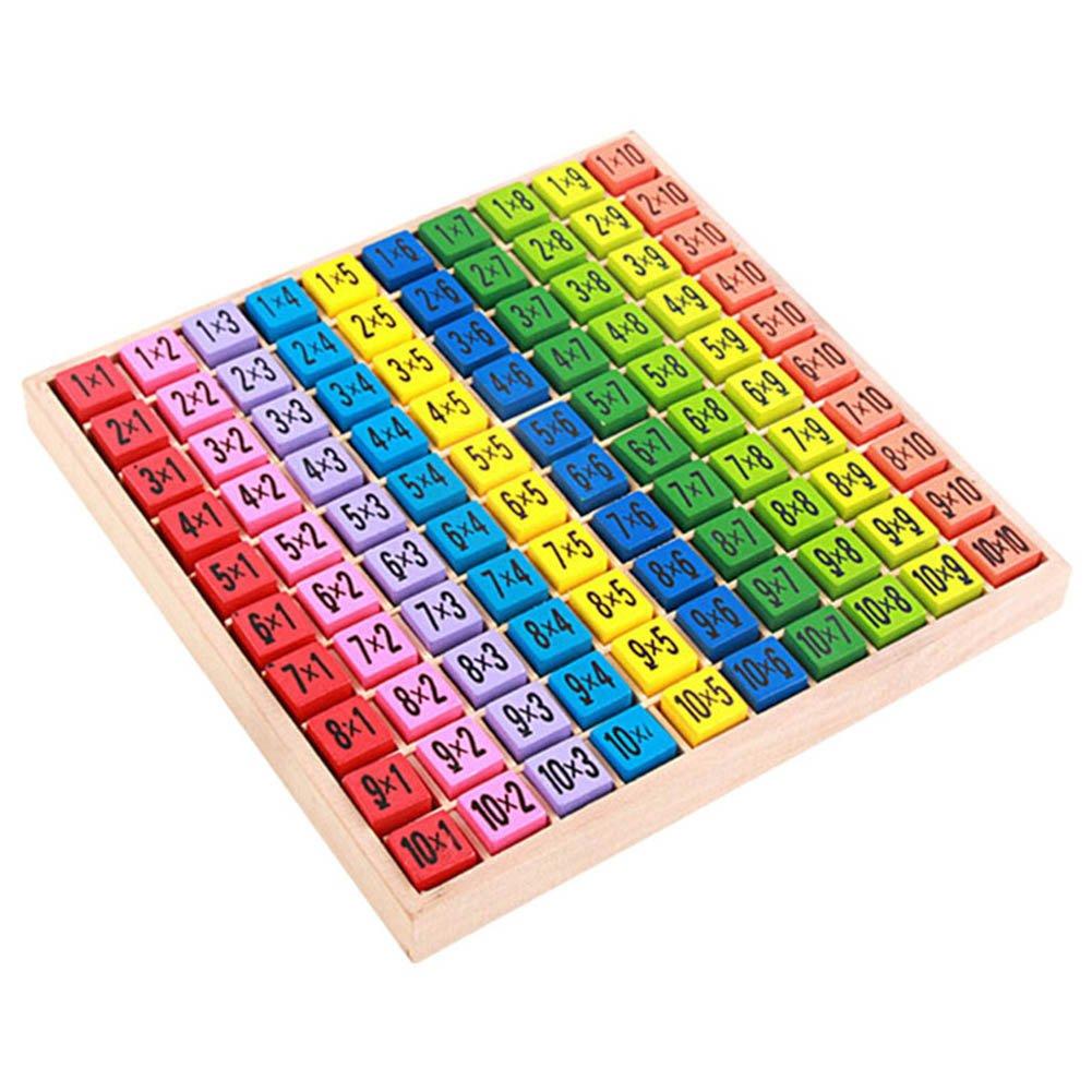 Rokoo Kinder Holz Frühe Pädagogische Spielzeug 99 Multiplikation Tabelle Mathe Spielzeug 10 * 10 Abbildung Blöcke Geschenke für Kinder