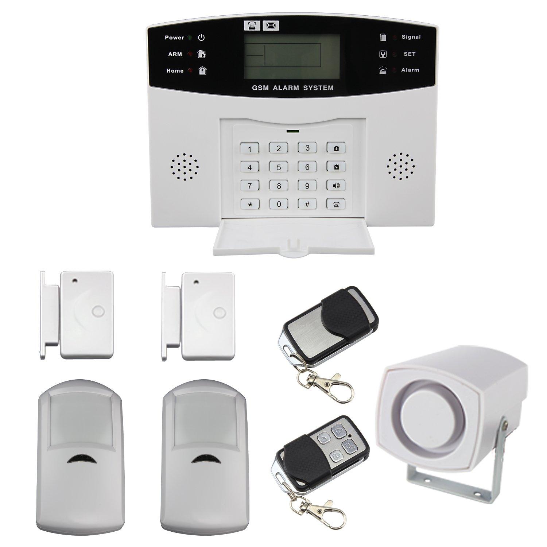 Wireless Mobile SMS GSM LCD Sicherheit für Alarmanlage Rücktaste Klammern