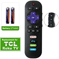 Bedycoon Remote Control Replacement Compatible with TCL roku TV Smart TV RC280 55UP120 55us57 55S401 32S3850 40FS3800 48FS3700 32S3800 Netflix Sling HULU VUDU Keys 2017 2018 TCL tv,and Batteries