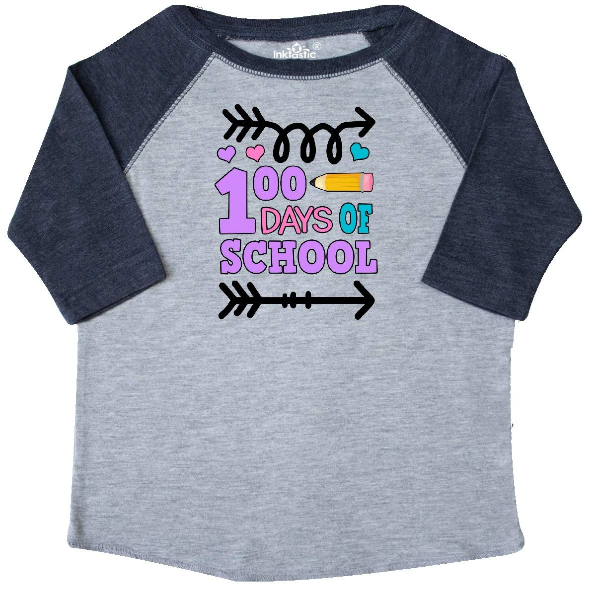 inktastic 100 Days of School with Arrows Toddler T-Shirt