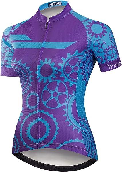 weimostar Ciclismo Jersey Donne Biking Maglie Abbigliamento Estate Manica Corta MTB Ladies Bike Shirt Top