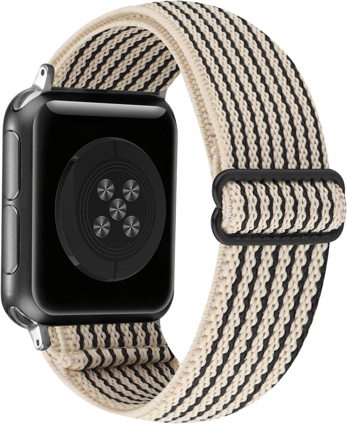Correa De Nailon Ajustable Apple Watch Series 6/5/4/3/2/1 Se