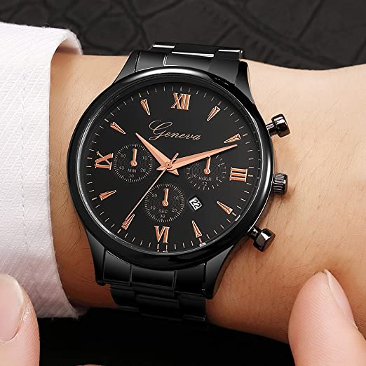 Amazon.com: Business Watches for Men DYTA Analog Quartz Watch with Stainless Steel Band Alloy Cases Under 10 Casual Wrist Watches Luxury Watches on Relojes ...