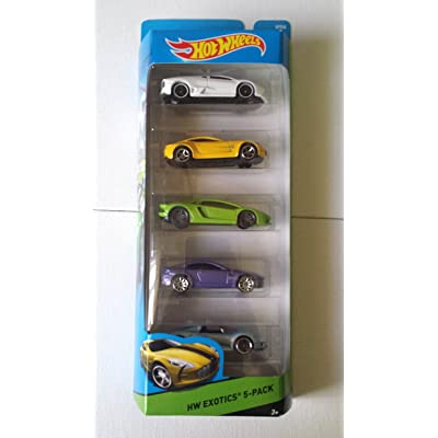 Hot Wheels, 2015 HW Workshop, HW Exotics 5-Pack [Version 1]: Toys & Games