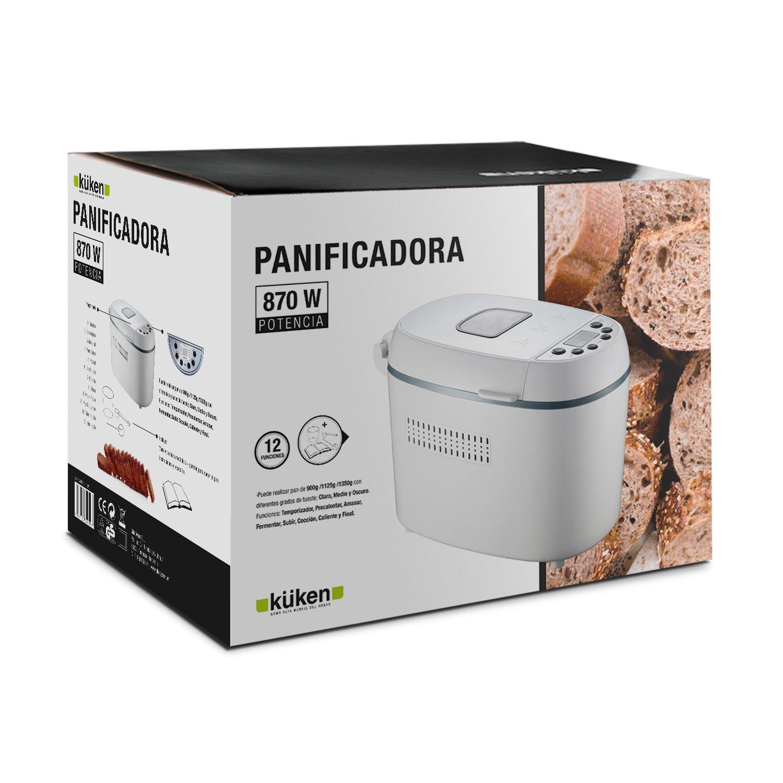 Küken 32396 - Panificadora, 870 W, especial para celíacos e intolerancia a lactosa: Amazon.es: Hogar