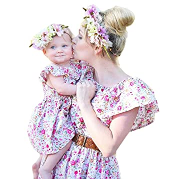 e2fa37e6aedc Amazon.com  Bowant Mother and Daughter Matching Dress