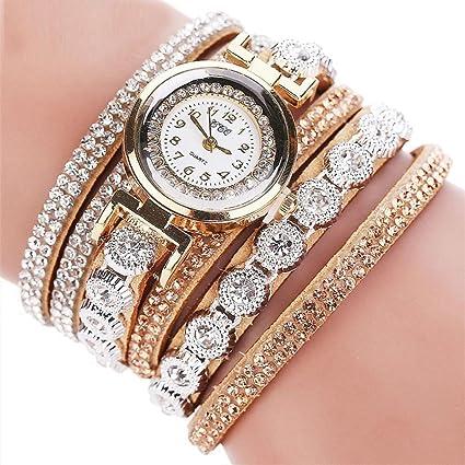-Reloj para mujer de Sonnena, correa de metal y reloj analógico con pulsera de