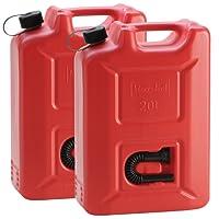 2x Kunststoffkanister Rot mit je 20 Liter Fassungsvermögen