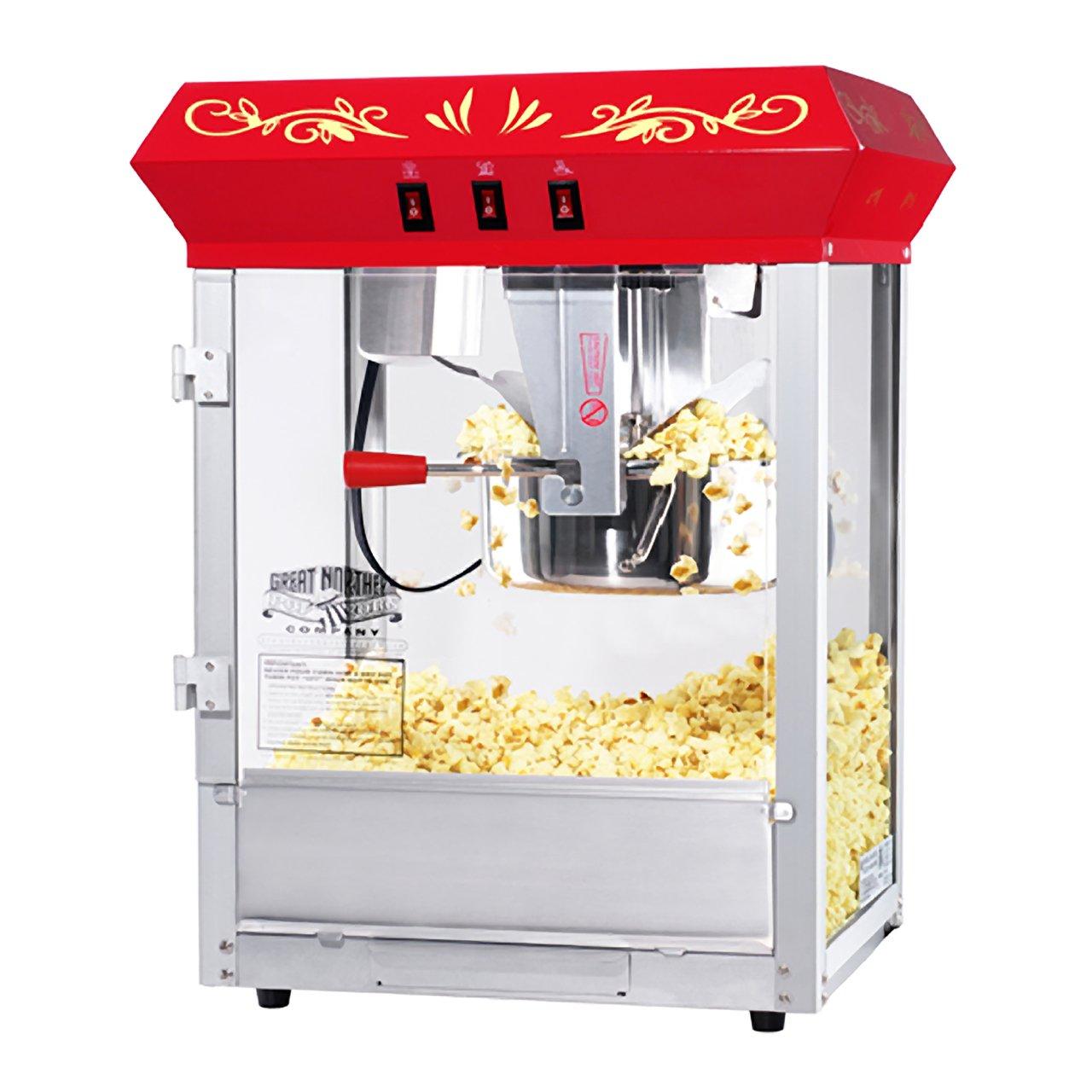 6100 Great Northern Popcorn Red Countertop Foundation Popcorn Popper Machine, 8 Ounce by Great Northern Popcorn Company
