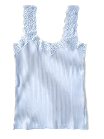 c4602e08745ff J.Crew Women's Lace Ribbed Knit Tank Top at Amazon Women's Clothing store: