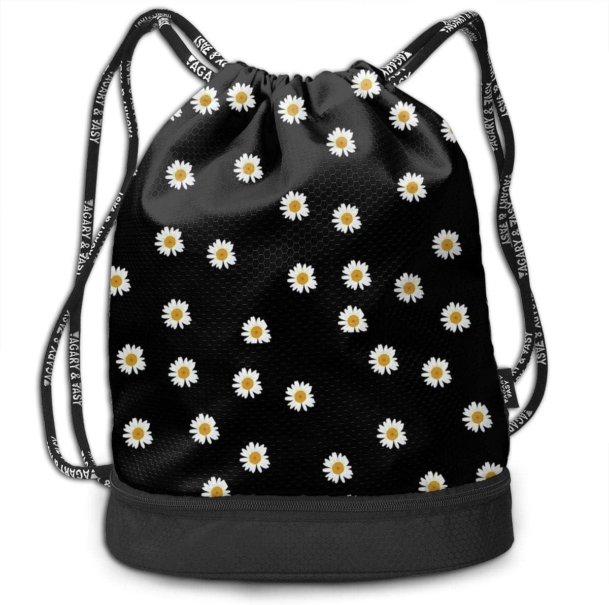 HUOPR5Q Sunflower Drawstring Backpack Sport Gym Sack Shoulder Bulk Bag Dance Bag for School Travel